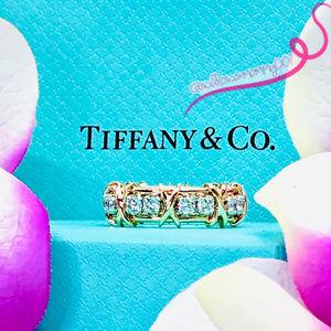 NWOT Tiffany & Co. Schlumberger Sixteen Stone Ring